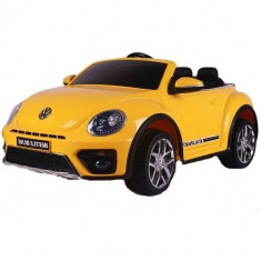 Masinuta Electrica Volkswagen Beetle Dune Yellow