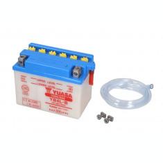 Baterie moto Acid cu intretinere YUASA 12V 4Ah 45A R+ aerisire dreapta 120x70x92 Incarcare uscata fara acid