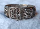 BRATARA argint VECHE ORIENTALA manopera EXCEPTIONALA de efect RARA SPLENDIDA