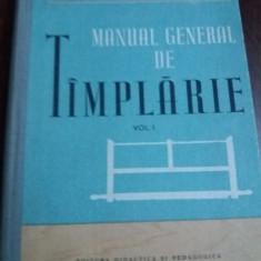MANUAL GENERAL DE TAMPLARIE  VOLUMUL I  TD
