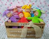 Papusa bebe in costum de iepuras