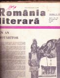 REVISTA -ROMANIA LITERARA  ANUL 2 NR 1 DIN 2 IANUARIE 1969 DE LA NR 1 LA 45