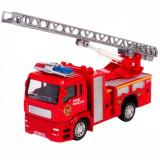 Masinuta de pompieri de jucarie, 12x4x6 cm, rosu