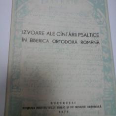 IZVOARE ALE CANTARII PSALTICE IN BISERICA ORTODOXA ROMANA - NICU MOLDOVEANU