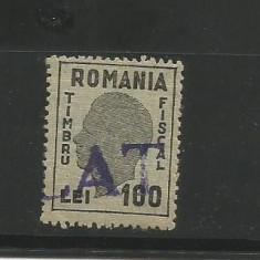 No(09) timbru fiscal-1945 REGELE MIHAI EFIGIA NEAGRAi fara matca