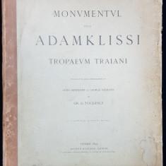 MONUMENTUL DE LA ADAMKLISSI TROPAEM TRAIANI -GR. G. TOCILESCU -VIENA 1895