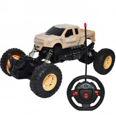 Masinuta de jucarie cu telecomanda RC in forma de volan, 1:18, Rock Crawler Champion Car
