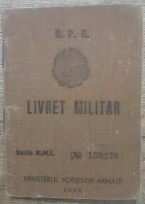 Livret militar RPR al unui roman din Bolgrad foto