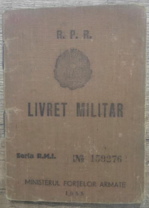 Livret militar RPR al unui roman din Bolgrad