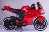 SUPER MOTOCICLETA ELECTRICA PT.COPIII,DUCATI REPLIK SPORT,MP3 PLAYER USB,LUMINI., Unisex, Negru