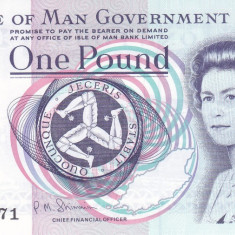 Bancnota Isle of Man 1 Pound (2009) - P40c UNC