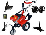 Motocultor Rotakt ROG80-T3, 7 CP, 3 viteze, carcasa transmisie fonta + Plug de arat + Plug de scos cartofi + Roti metalice + Rarita + Cadou ulei