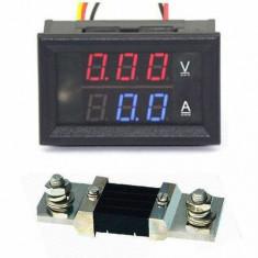 Voltmetru Ampermetru DC 0V - 200V 0-500A + Shunt 500A