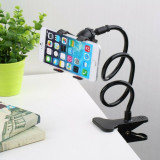 Suport de birou pentru telefon, flexibil, negru, Gonga