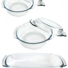 Set vase yena sticla termorezistenta Wol 5 piese 1,7l,2,3l,2,4l Termisil