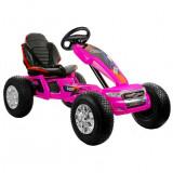Go kart electric Ford Ranger, 2 viteze, cadru otel, roz
