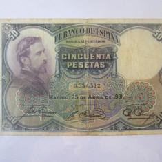 Spania 50 Pesetas 1931