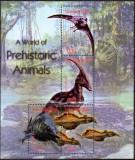 Gambia 2003, Fauna - Animale preistorice - Dinozauri, MNH, Nestampilat