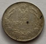 "250 Lei 1941 NSD, Argint, Romania, a UNC, cifra ""1"" din an, slab batuta, RARA!"