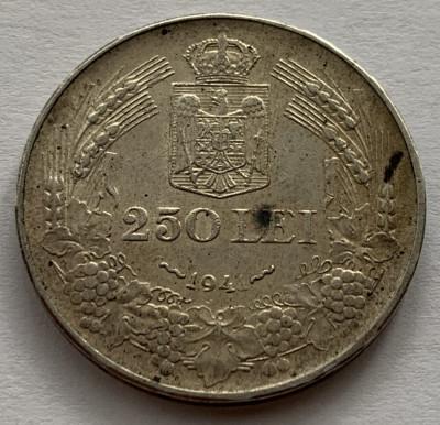 "250 Lei 1941 NSD, Argint, Romania, a UNC, cifra ""1"" din an, slab batuta, RARA! foto"