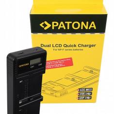 PATONA | Incarcator dual USB LCD Sony NP-F970 NP-F750 NP-F550 NP-FM50 NP-FM500H