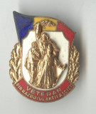 Insigna militara veche Veteran din Razboiul Antifascist 1969