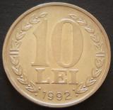 Moneda 10 Lei - ROMANIA, anul 1992  *cod 4446
