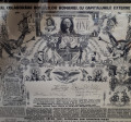 Afis interbelic Carol II - Propaganda pro America - Rar