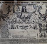 Afis interbelic Carol II - Propaganda pro America - per. regalista - reclama