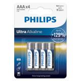 Cumpara ieftin Set baterii Ultra Alkaline Philips, 4 x LR AA, 1.5 V