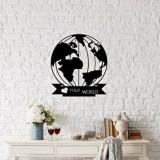 Cumpara ieftin Decoratiune pentru perete, Ocean, metal 100 procente, 48 x 55 cm, 874OCN1047, Negru