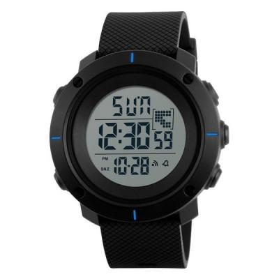 Ceas Barbatesc SKMEI CS1079, curea silicon, digital watch, functie cronometru, alarma foto