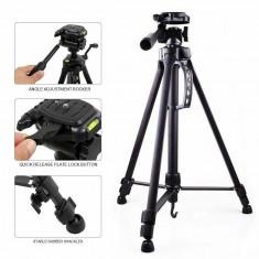 Trepied portabil pentru camera, din aluminiu, 160 cm, negru, Gonga