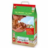 Nisip de litieră pentru pisici, organic, absorbant - Cats Best Oko Plus 10L