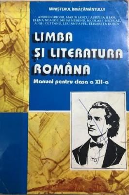 Limba si literatura romana manual pentru clasa a XII-a foto