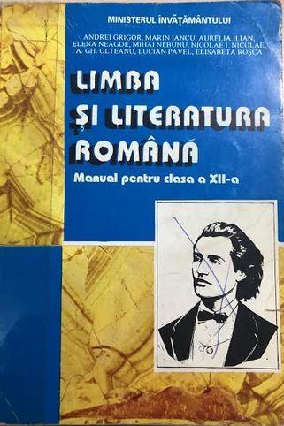 Limba si literatura romana manual pentru clasa a XII-a