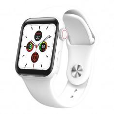 Ceas Smartwatch Techstar® W58Pro Alb, 1.3 inch IPS, Monitorizare Temperatura, Sedentarism, Bluetooth, IP67