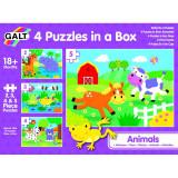 Set 4 puzzle-uri Animalute Galt, 2-5 piese, 18 luni+