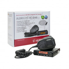 Aproape nou: Statie radio CB Albrecht AE 6110, ASQ-SQ reglabil, 12V, 4W, AM/FM, mul