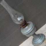 Cumpara ieftin LAMPA VECHE PE PETROL - FACUTA DIN ZINC CU CILINDRU DIN STICLA, ANII 1900
