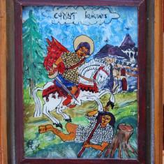 "Romeo Calancea (1930-1988) - Icoană ""Sf. Gheorghe"", 1986"