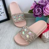 Cumpara ieftin Sandale roz moi cu pietricele papuci strasuri pt fete 30 31 32 33 34 35 cod 0782