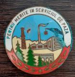 INSIGNA ROMANIA - PENTRU MERITE IN SERVICIUL DE PAZA, PERIOADA COMUNISTA, RARA