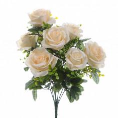 Buchet flori artificiale Roses and Gypsophila Cream