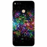 Husa silicon pentru Xiaomi Mi A1, Rainbow Colored Soap Bubbles