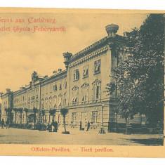 4791 - ALBA-IULIA, Cazarma Militara, Litho, Romania - old postcard - used - 1900, Circulata, Printata