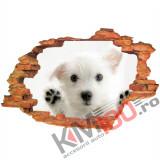 "Sticker ""Wall Crack"" Dog 3 - 120 x 80 cm"