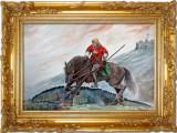 Acuarela ucigatorul de balauri - tablouri tablou picturi pictura decor, Istorice, Realism