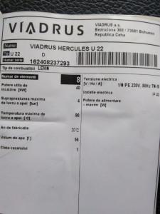 URGENT.Centrala termica Viadrus Hercules U 22 40kw pe lemn