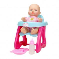 Bebelus interactiv Mini Baby, scaun si mancare, 5 functii